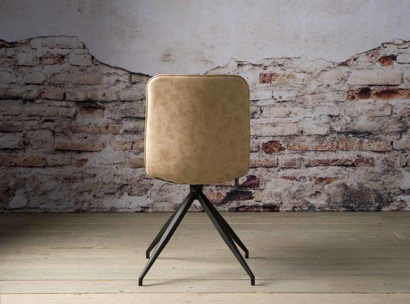 Sidd Santander stoel - PU beige