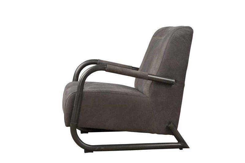 Sidd Barn fauteuil - leder stone