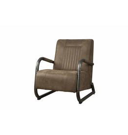 Sidd Barn fauteuil - leder taupe