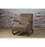 Sidd Barn fauteuil - leder taupe