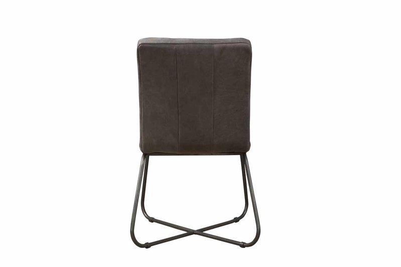 Sidd Rodeo stoel - leder stone