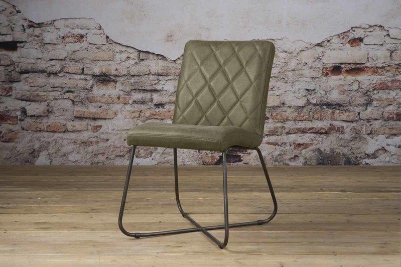 Sidd Rodeo stoel - leder olive