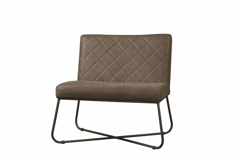 Sidd Rodeo fauteuil - leder taupe