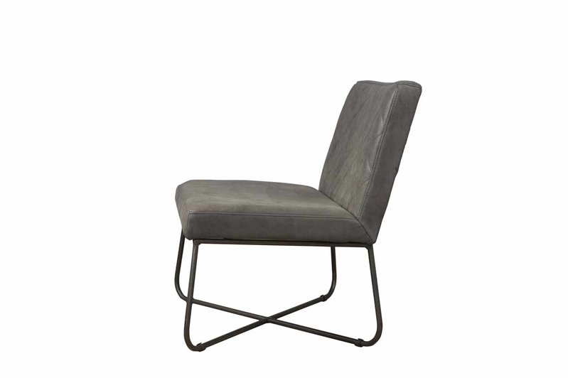 Sidd Rodeo fauteuil - leder stone