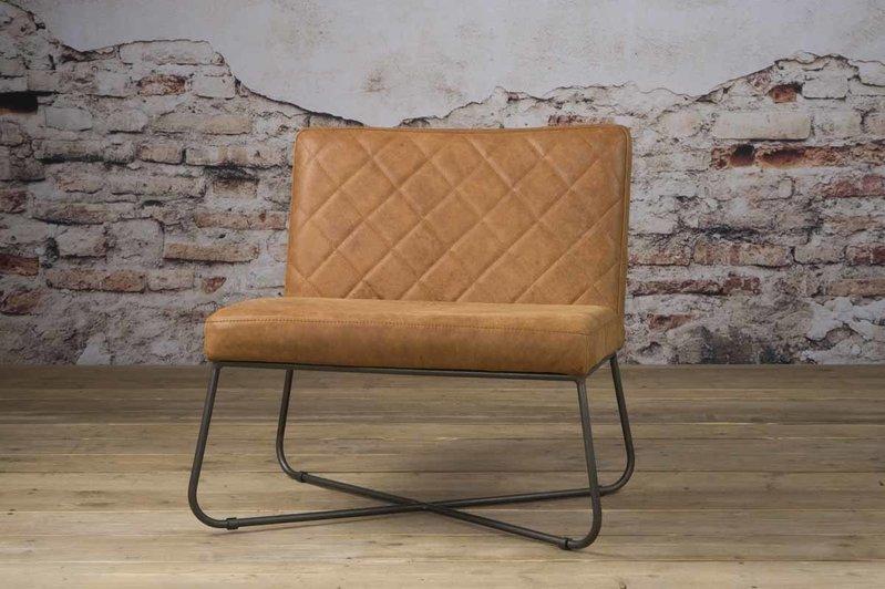 Sidd Rodeo fauteuil - leder rust