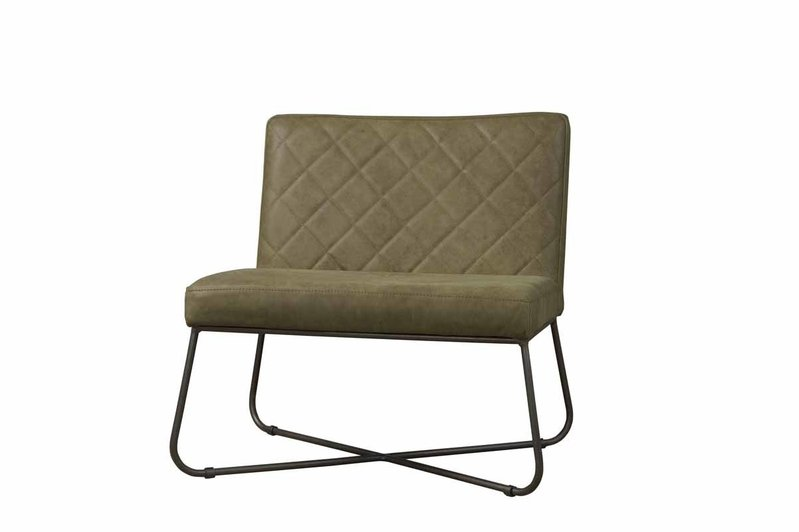 Sidd Rodeo fauteuil - leder olive