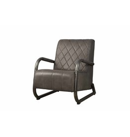 Sidd Ranch fauteuil - leder stone