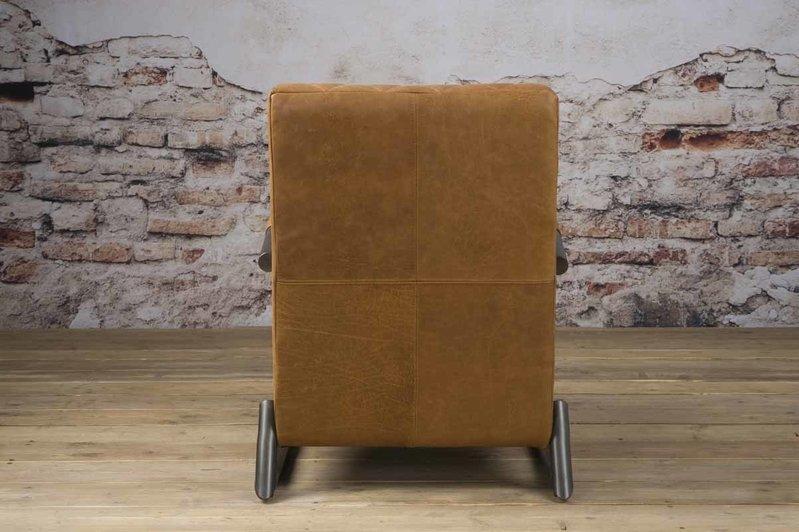 Sidd Ranch fauteuil - leder rust