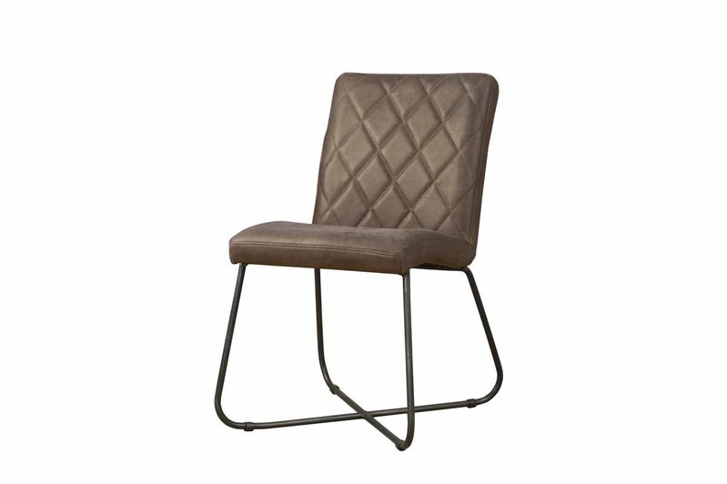 Sidd Rodeo stoel - leder taupe