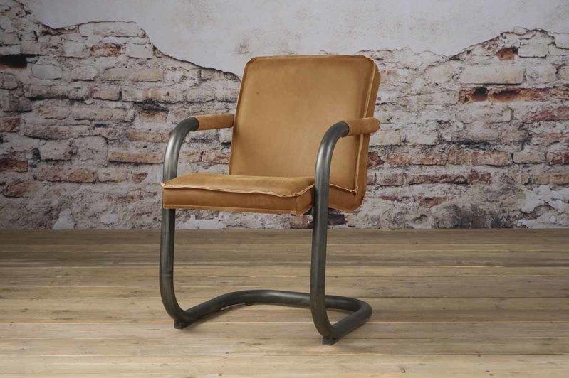 Sidd Saddle armstoel - leder rust