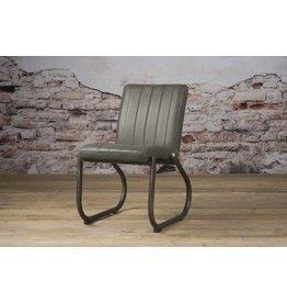 Sidd Texas stoel - leder stone