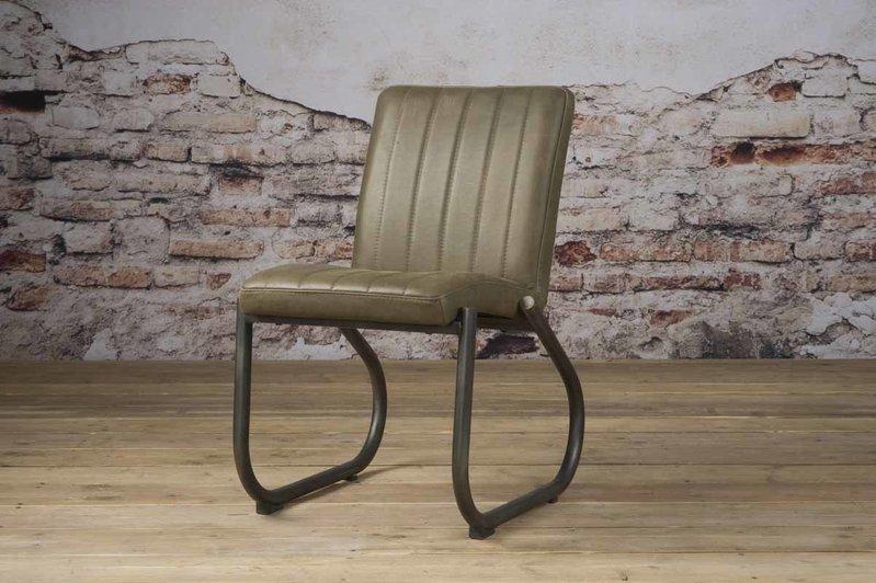 Sidd Texas stoel - leder olive