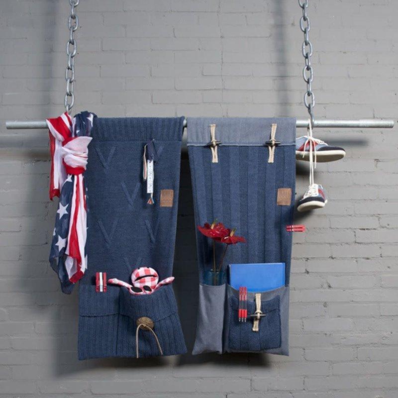 Knit Factory Knit Factory Aran Pocket Antraciet
