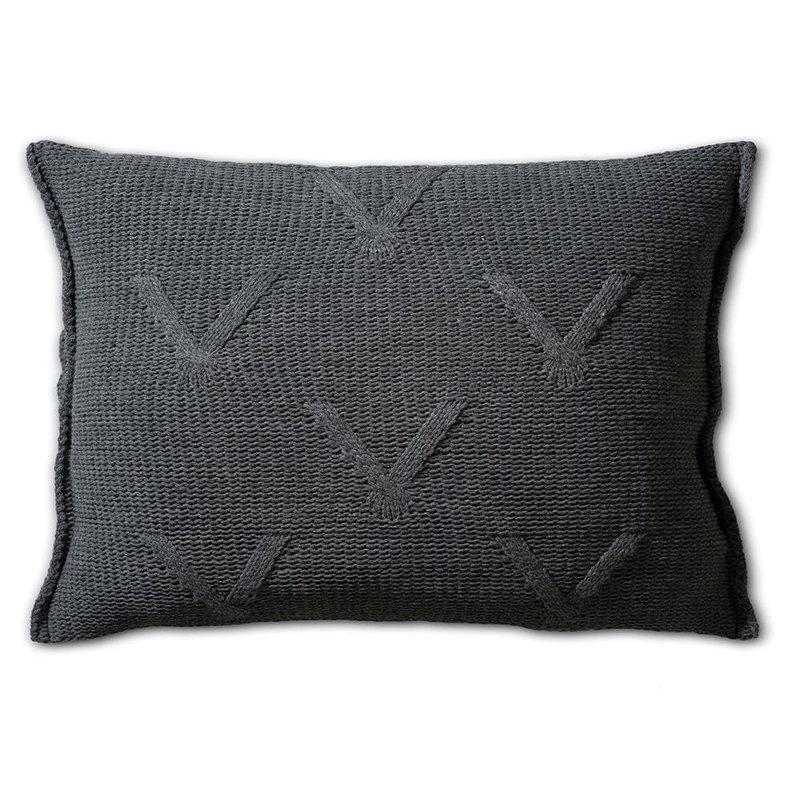 Knit Factory Knit Factory Aran Kissen 60x40 Anthrazit
