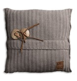 Knit Factory Knit Factory Aran Kissen 50x50 Taupe