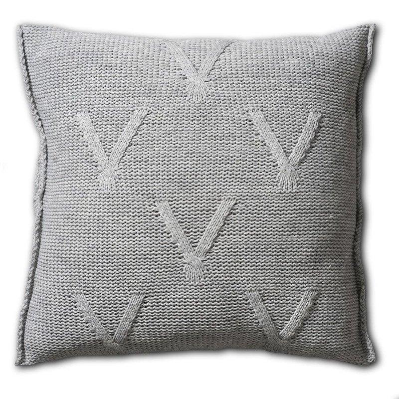Knit Factory Knit Factory Aran Kussen 50x50 Licht Grijs