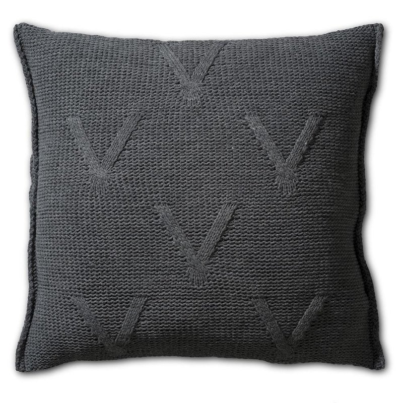 Knit Factory Knit Factory Aran Kissen 50x50 Anthrazit