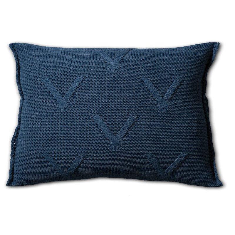 Knit Factory Knit Factory Aran Kissen 60x40 Dunkel Blau
