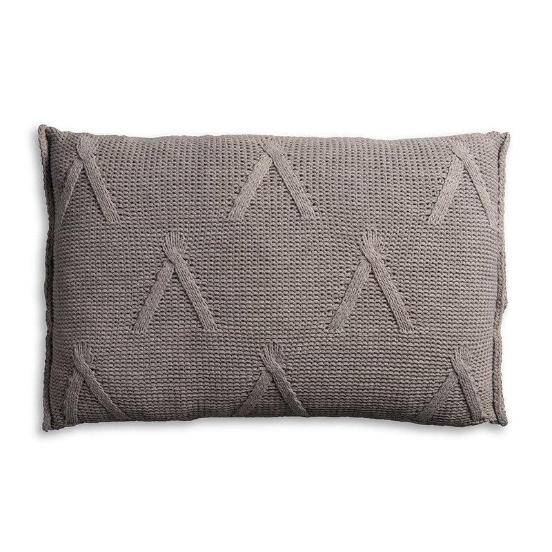 Knit Factory Knit Factory Aran Kissen 60x40 Taupe