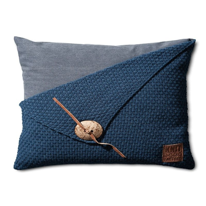 Knit Factory Knit Factory Barley Kissen 60x40 Dunkel Blau