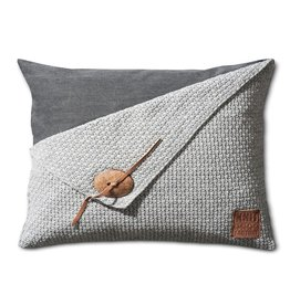 Knit Factory Barley Kissen 60x40 Grau