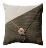Knit Factory Knit Factory Barley Kussen 50x50 Groen