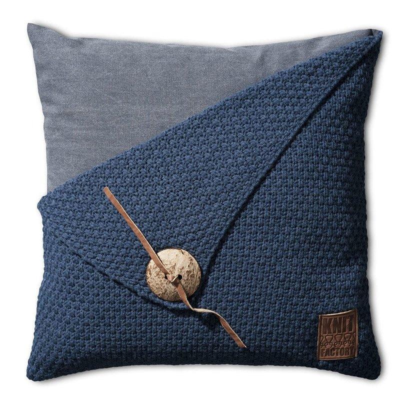 Knit Factory Knit Factory Barley Kissen 50x50 Dunkel Blau