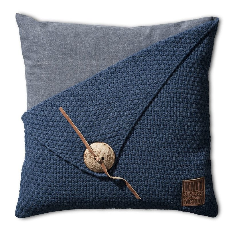 Knit Factory Knit Factory Barley Kussen 50x50 Jeans