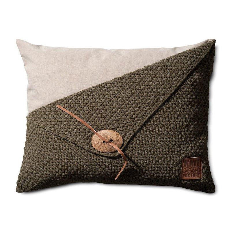 Knit Factory Knit Factory Barley Kissen 60x40 Grün