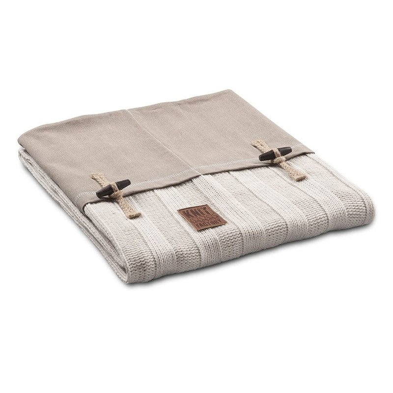 Knit Factory Knit Factory 6x6 Rippe Plaid Beige