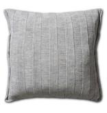 Knit Factory Knit Factory 6x6 Rippe Kissen 50x50 Grau