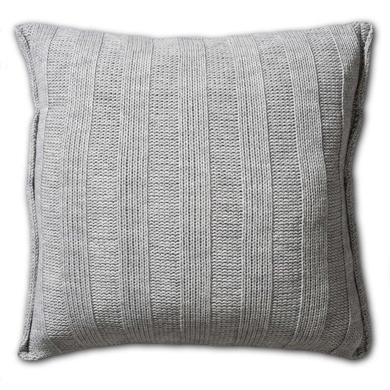 Knit Factory Knit Factory 6x6 Rib Kussen 50x50 Licht Grijs