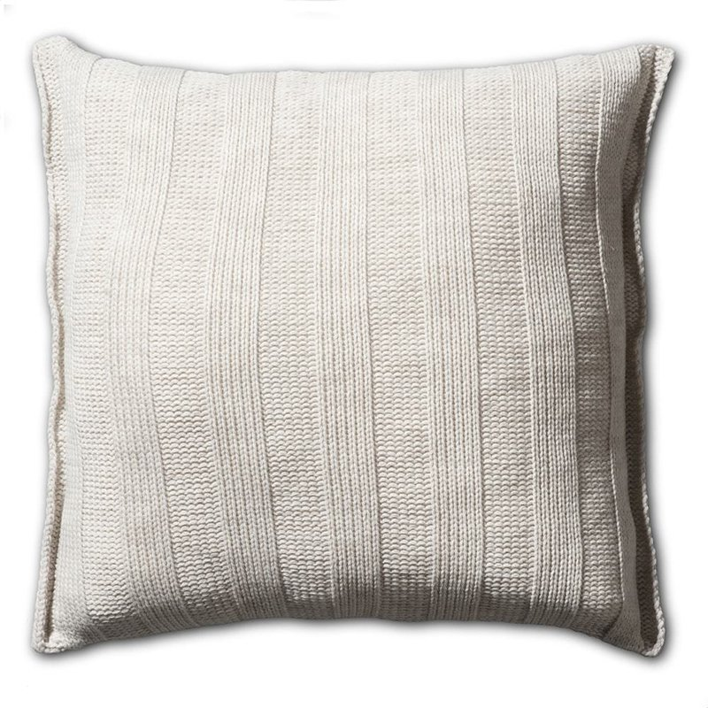 Knit Factory Knit Factory 6x6 Rib Kussen 50x50 Beige