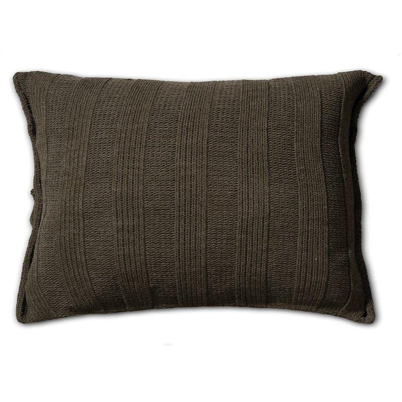 Knit Factory Knit Factory 6x6 Rib Kussen 60x40 Groen