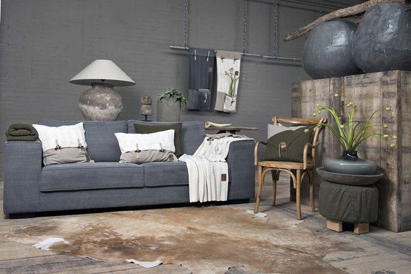 Knit Factory Knit Factory 6x6 Rippe Kissen 60x40 Grün