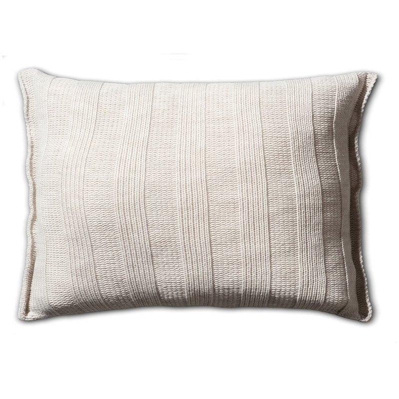 Knit Factory Knit Factory 6x6 Rippe Kissen 60x40 Beige