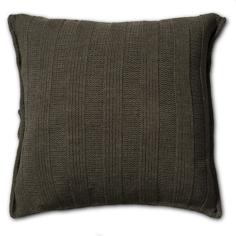 Knit Factory Knit Factory 6x6 Rib Kussen 50x50 Groen