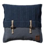 Knit Factory Knit Factory 6x6 Rippe Kissen 50x50 Dunkel Blau