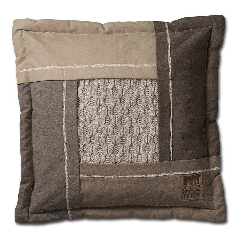 Knit Factory Knit Factory Trix Kussen 50x50 Beige Mêlee