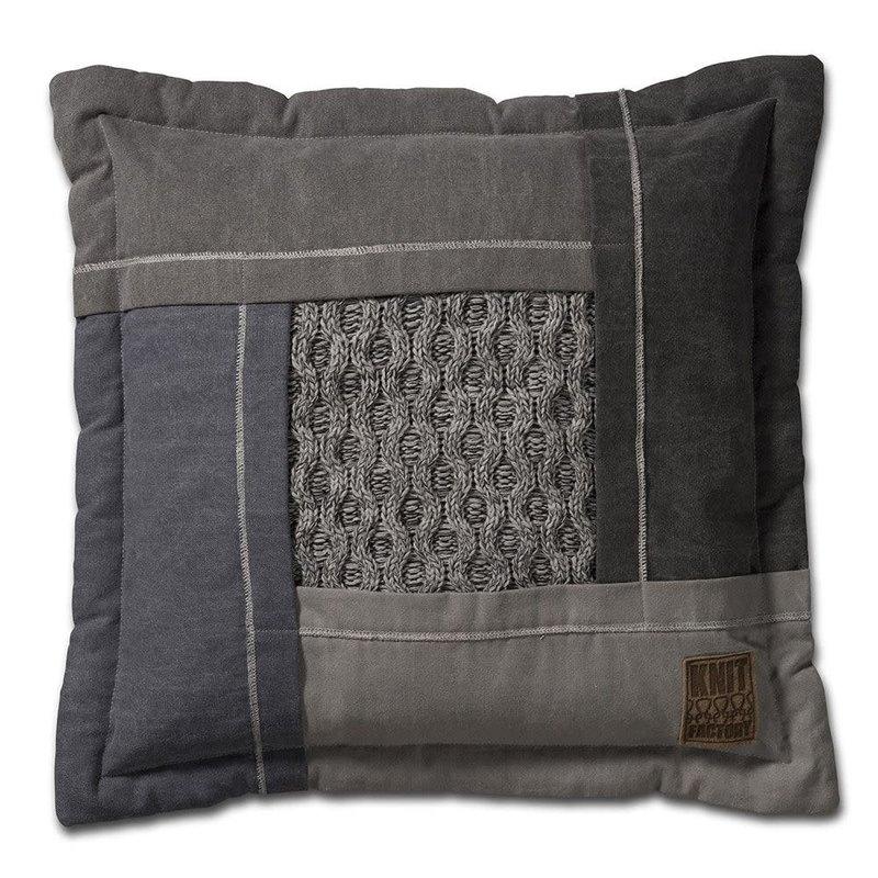 Knit Factory Knit Factory Trix Kussen 50x50 Licht Grijs Mêlee