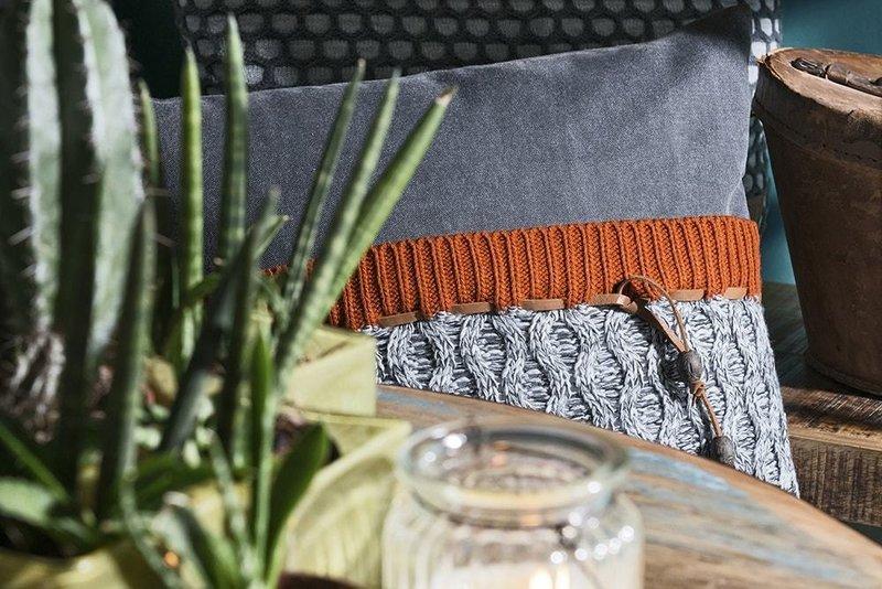 Knit Factory Knit Factory Joep Kussen 50x50 Beige Mêlee
