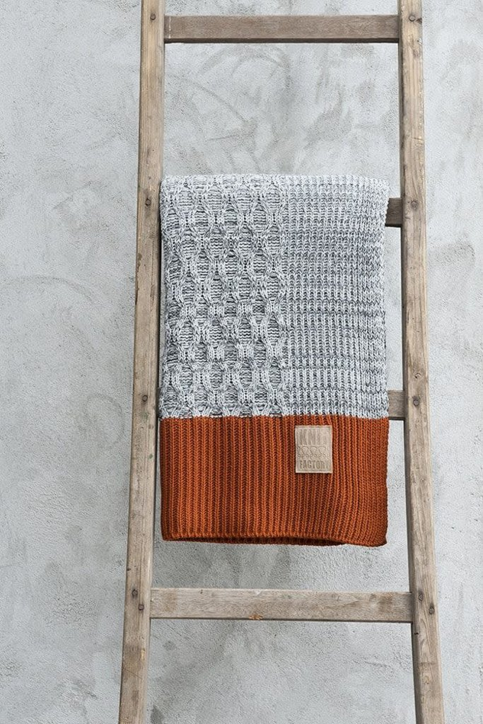 Knit Factory Knit Factory Joep Plaid Licht Grijs Mêlee