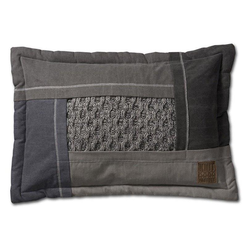 Knit Factory Knit Factory Trix Kussen 60x40 Licht Grijs Mêlee