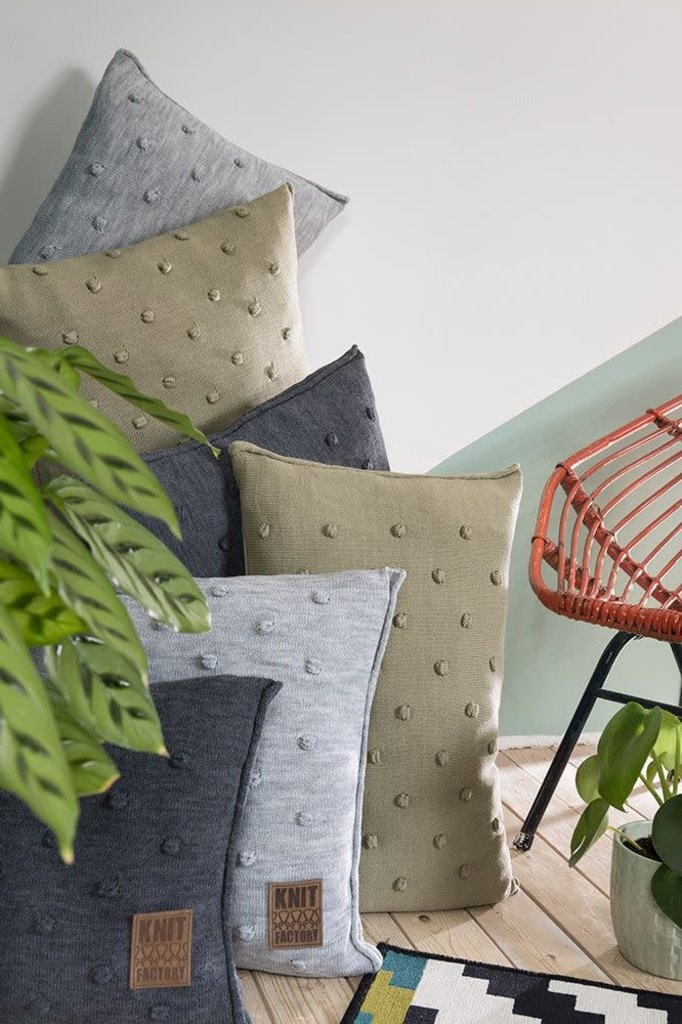 Knit Factory Knit Factory Noa Kussen 50x50 Stone Green