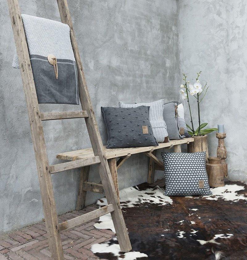 Knit Factory Knit Factory Noa Kussen 50x50 Licht Grijs