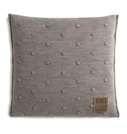 Knit Factory Noa Kissen 50x50 taupe