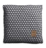 Knit Factory Knit Factory Mila Kissen 50x50 Grau/Anthrazit