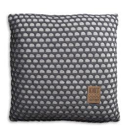 Knit Factory Mila Kussen 50x50 Licht Grijs/Antraciet