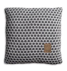 Knit Factory Mila Kussen 50x50 Antraciet/Licht Grijs