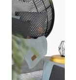 Knit Factory Knit Factory Mila Kussen 50x50 Antraciet/Licht Grijs